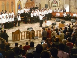 This particular choir was composed of members from various churches, of different denominations. All worship leaders, as well as speakers, however, were Orthodox.