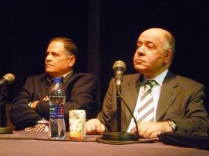 Muhi al-Din Shihab (L) and Assaad Chaftari (R)