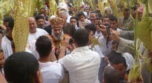 Bishop Thomas among the revelers