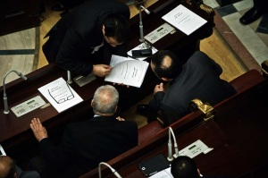 During final discussions over the constitutional text