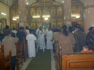 Yu'annis in church