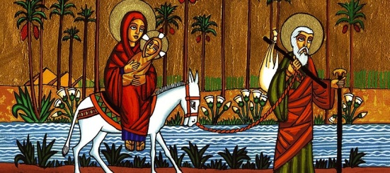 Holy Family in Egypt Icon 1