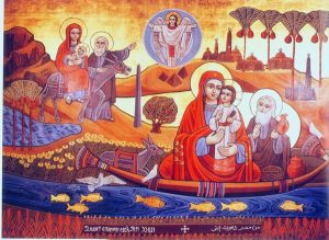 Holy Family in Egypt Icon