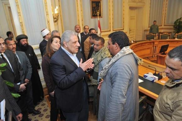On February 14, Prime Minister Ibrahim Mehlab met with the families, promising best efforts and to take care of them while in Cairo.