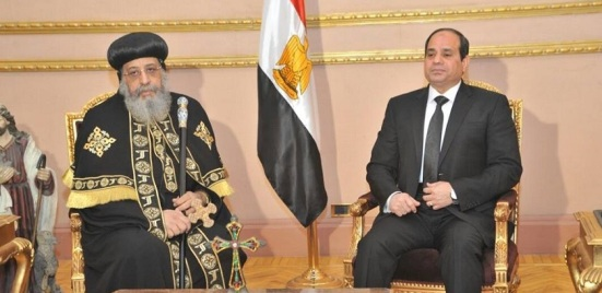 On February 16, after the Islamic State released its video of beheading its victims, President Sisi visited Pope Tawadros to express his condolences.