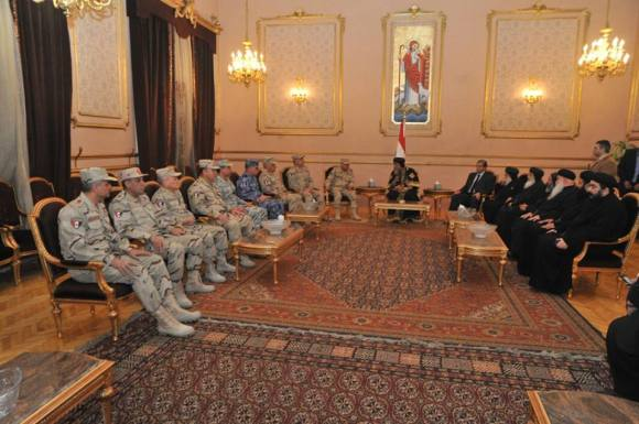 Also offering condolences was a delegation from the military, including the Minister of Defense, Sedki Sobhi.