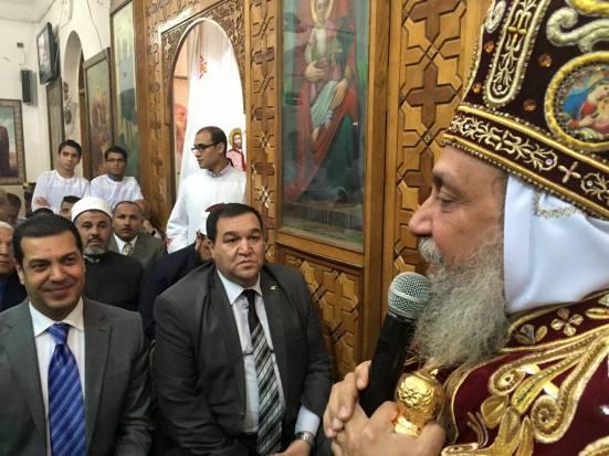 Bishop Thomas of Qusia received Asyut governor Yassir al-Desouki