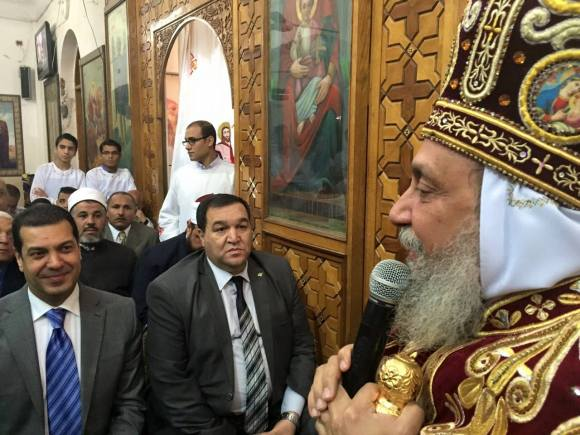 Bishop Thomas of Qusia received Asyut governor Yassir al-Desouki