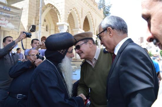 Bishop Kyrillos of Nag Hamadi received Sohag governor Gen. Abd al-Hamid al-Hegan
