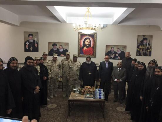A military designation visited the St. Mina Monastery outside Alexandria