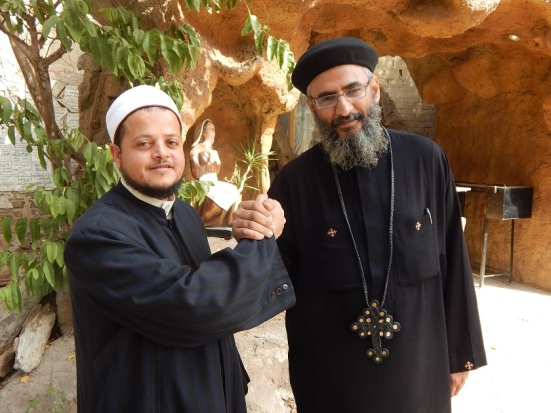 Sheikh Hassan and Fr. Kyrillos