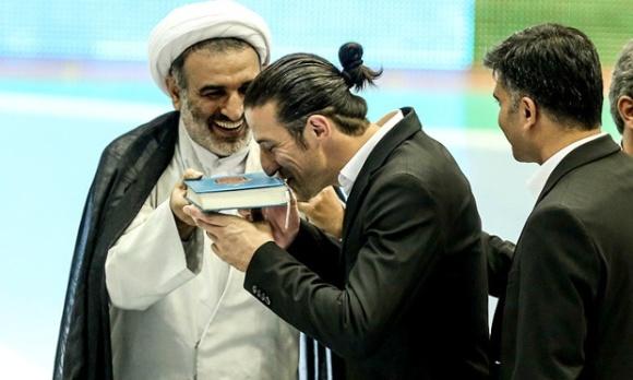Iran Soccer Kiss Quran