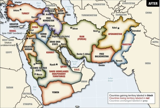 Map of New Middle East