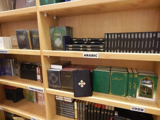 Bibles for Sale at the Evangelical Church of Abu Dhabi