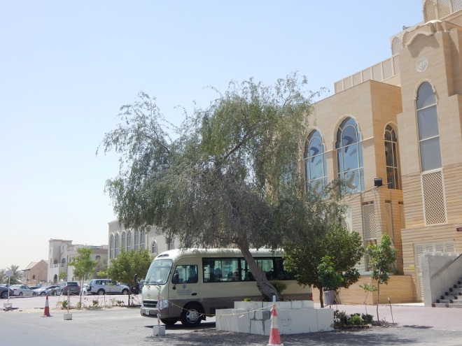 The Dubai churches pictured above are in compound just for foreign worship. But it is right down the street from the famed Ibn Battuta mall. In the distance you can see the Evangelical Church, in the foreground is a Sikh Temple.