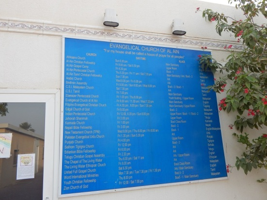 List of Churches within the Evangelical Church of al-Ain