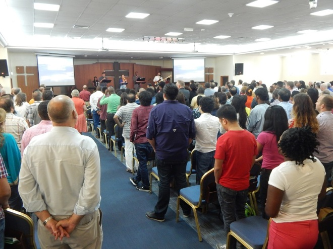 Service at the Evangelical Church of Abu Dhabi
