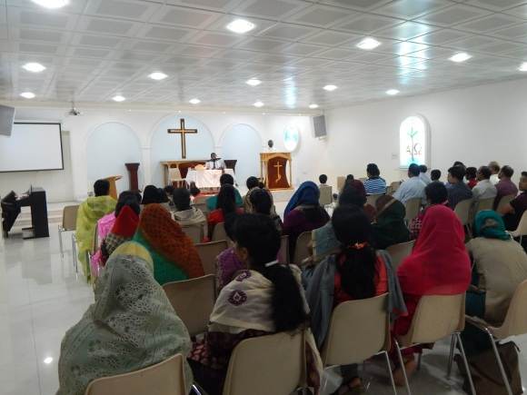 Service at the Evangelical Church of al-Ain
