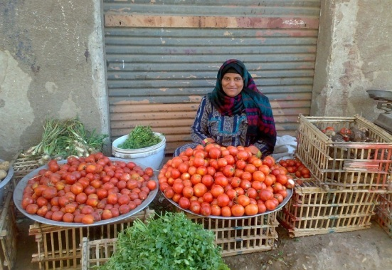 Egyptian woman selling vegetables (from copticorphans.org)