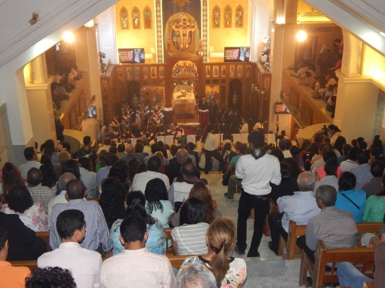 A full church for the papal visit