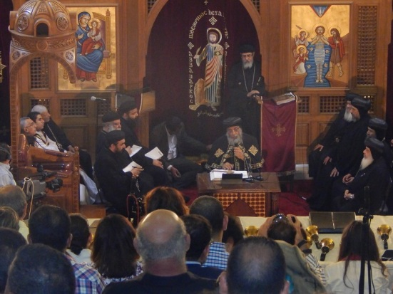 Pope Tawadros at St. Mark's Church in Maadi, Cairo