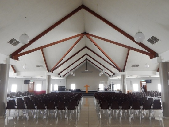 Worship Hall inside Dubai Evangelical Church Centre