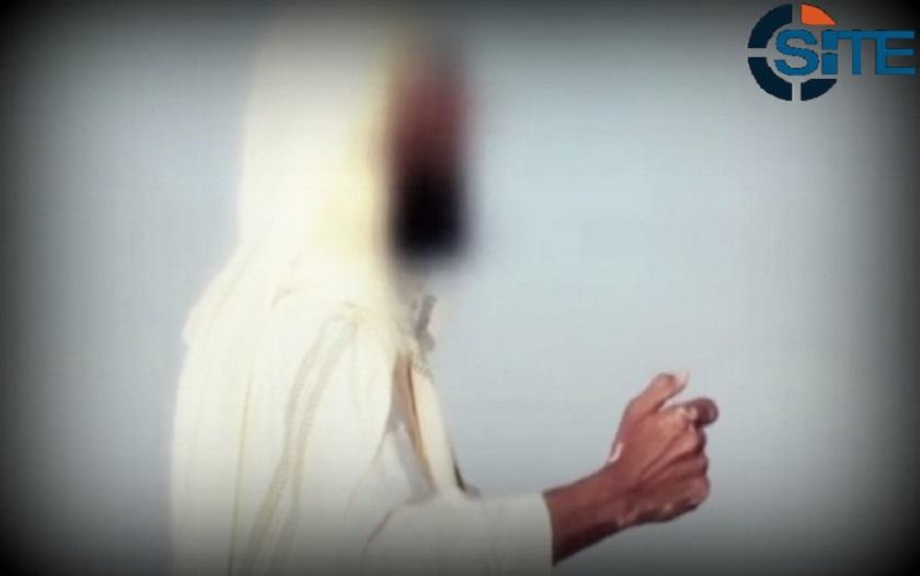 Abu Osama al-Masry, blurred in a Wilayat Sinai propaganda video; from SITE Intel Group