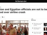 Rudeness and Retort: The Russian Airline Crash inSinai
