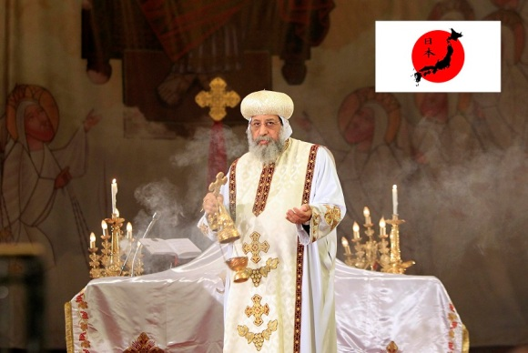 Pope Tawadros II leads mass prayers for Egyptians beheaded in Libya, at Saint Mark's Coptic Orthodox Cathedral in Cairo