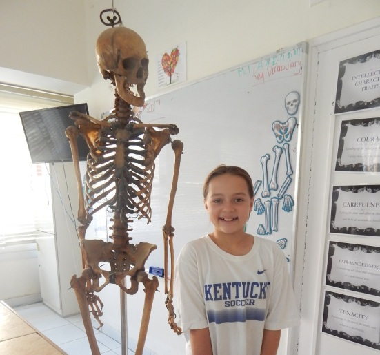 Emma and Max the Skeleton